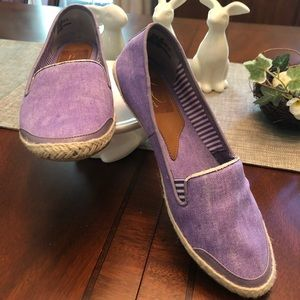 Kim Rogers lavender slip and on casual flats size8